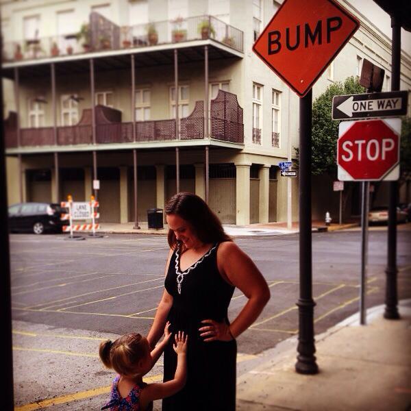 pregnancy announcement bump sign