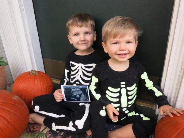 halloween baby announcement