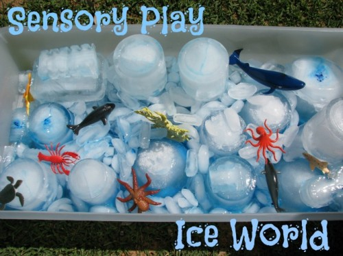 ice world sensory play