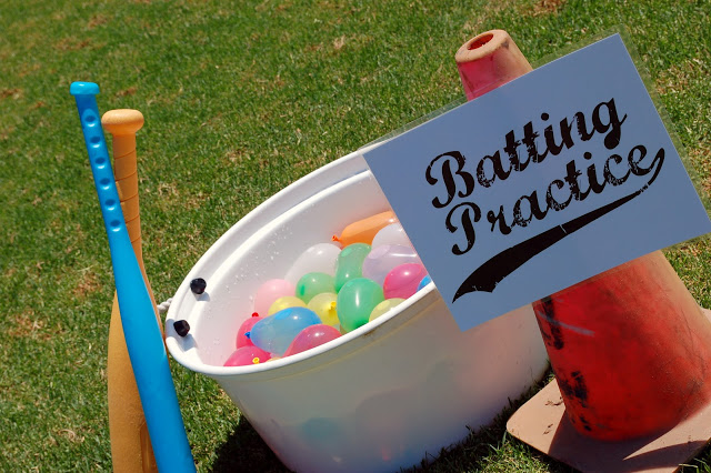water balloon batting practice