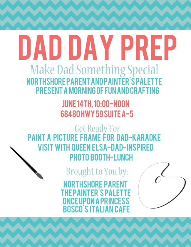 Dad Day Prep Party with Northshore Parent