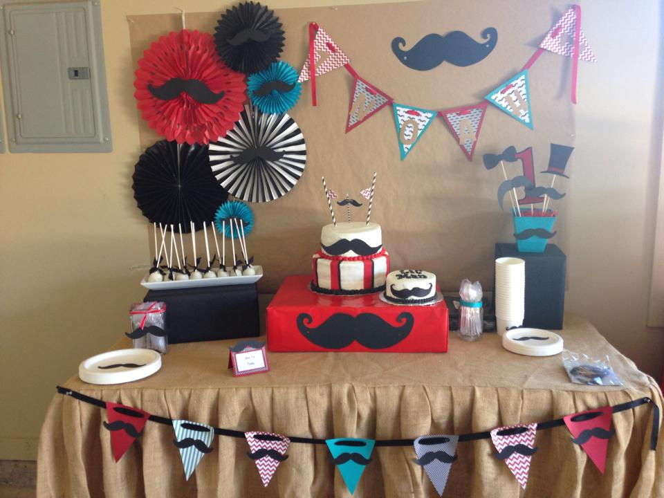 Mustache Party {Noah Turns One}