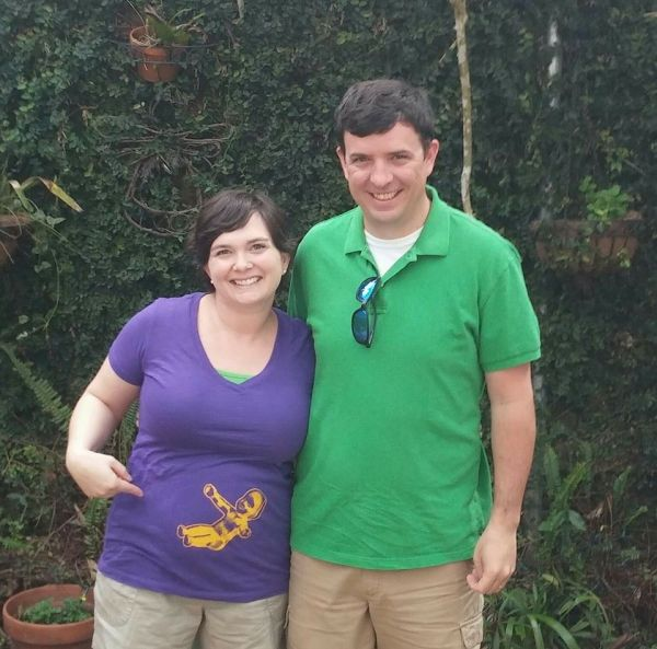 mardi gras pregnancy announcement