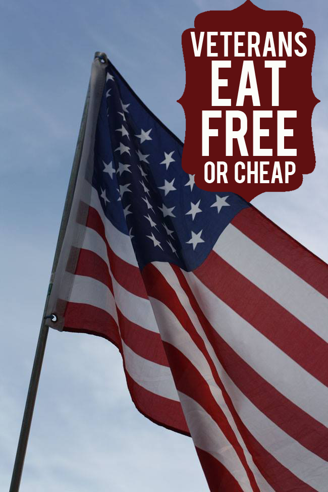 Veterans Eat Free (or Cheap)