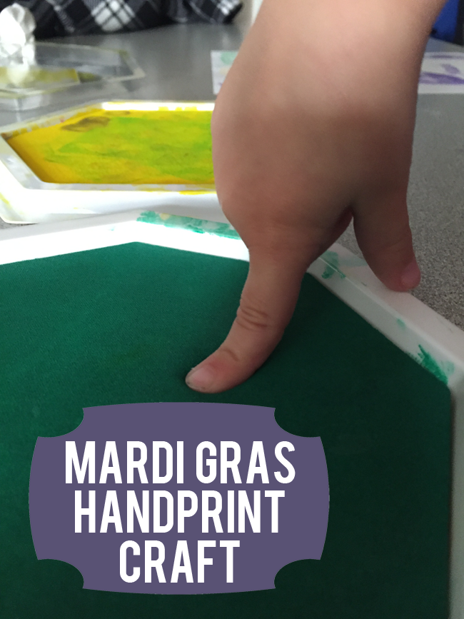Mardi Gras Handprint Craft