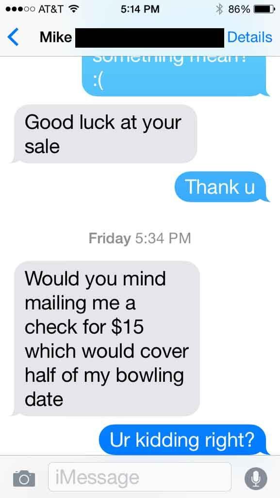 15 dollar text pic