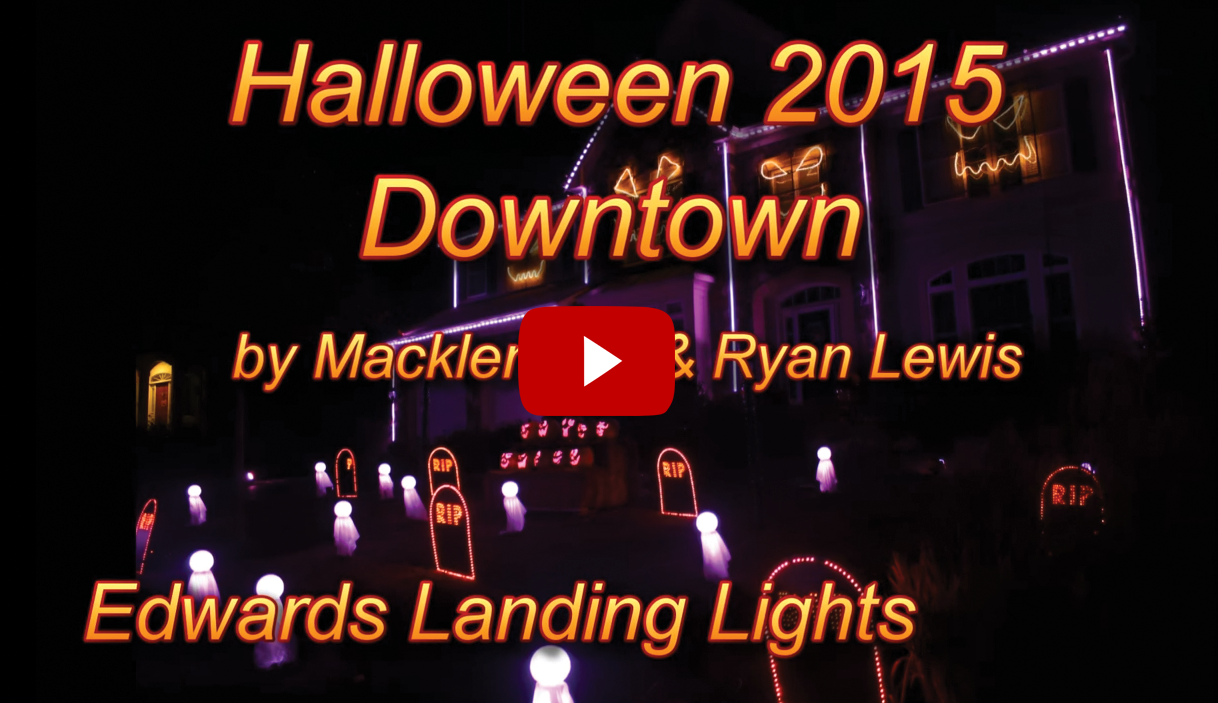 Halloween Lights Set to Macklemore's Downtown