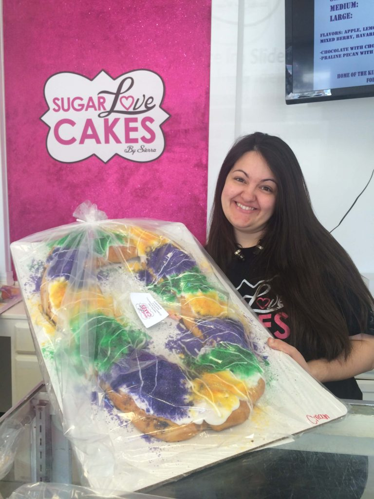 Sierra inventor of king cake on a stick