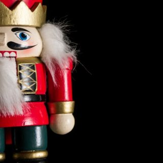 Christmas nutcracker background