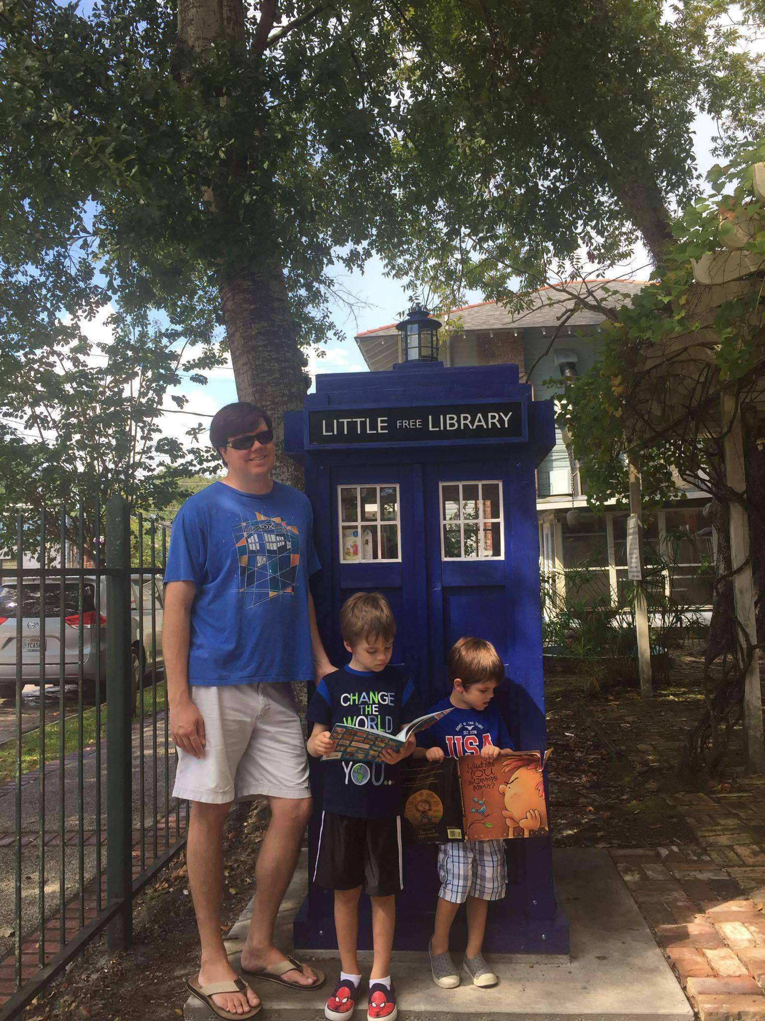 The TARDIS and other Little Free Libraries on the Northshore
