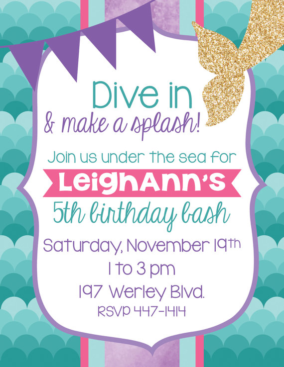 7 adorable mermaid party invitations for your next birthday bash these colorful mermaid invitations are perfect for the child who likes to live life out loud available as a digital download you print yourself solutioingenieria Images