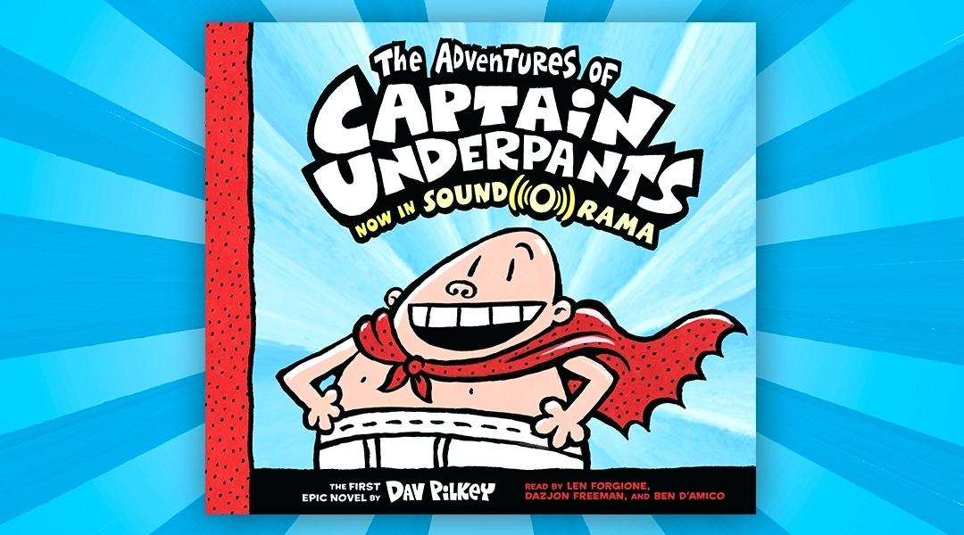 cover of the captain underpants audio book