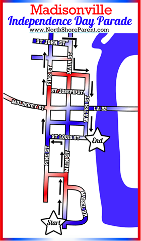 map of the madisonville old fashioned fourth parade route